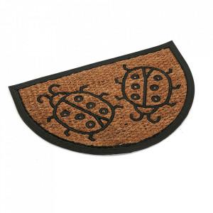 Pres pentru intrare maro/negru din fibre de cocos 40x60 cm Lady Bugs Versa Home