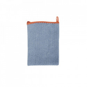 Prosop albastru/portocaliu din bumbac 30x30 cm Tea Towel Mini Hubsch