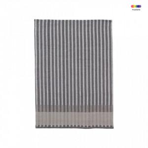 Prosop bucatarie gri din bumbac 50x70 cm Grain Jacquard Grey Ferm Living