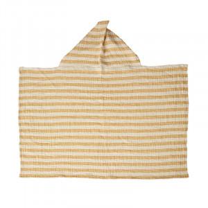 Prosop cu gluga galben sofran din bumbac 89x93 cm Stripes Quax