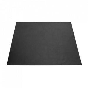 Protectie masa patrata neagra din piele 78x78 cm Ivy Serax
