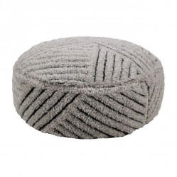 Puf rotund multicolor din lana si bumbac 70 cm Fields Lorena Canals
