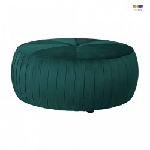 Puf rotund verde din catifea 83 cm Joya Green Richmond Interiors
