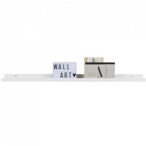 Raft alb din MDF 120 cm Studio Woood