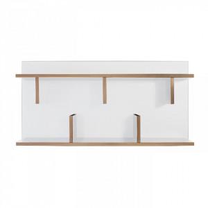Raft alb din panouri 90 cm Bern White TemaHome