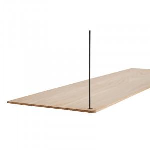 Raft maro/negru din lemn de stejar si metal 80 cm Stedge Add-On Woud