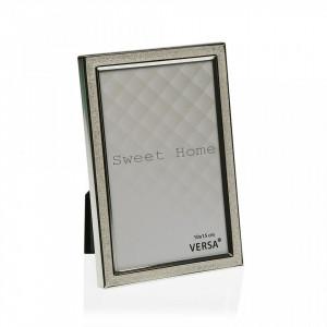 Rama foto argintie din otel 11,2x11,2 cm Silver Mini Square Frame Versa Home