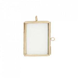 Rama foto aurie din fier si sticla 5x4 cm Iron Gold Madam Stoltz
