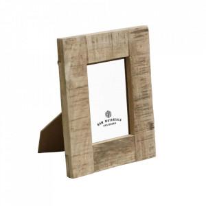 Rama foto dreptunghiulara maro din lemn de mango 20x24 cm Vintage Raw Materials