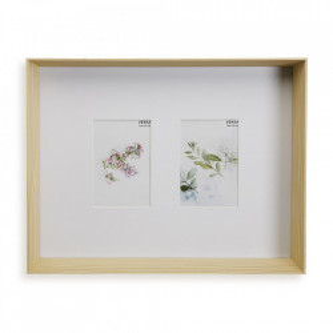 Rama foto maro din lemn pentru 2 fotografii 32,4x40,9 cm Denise Versa Home