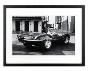 Rama foto neagra/alba din lemn si sticla 40x50 cm Steve Mcqueen Jaguar LifeStyle Home Collection