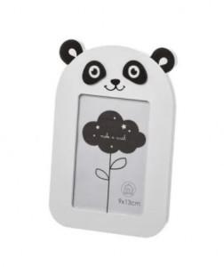 Rama foto neagra/alba din MDF si sticla 13x19,5 cm Panda Unimasa
