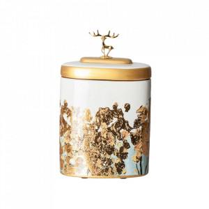 Recipient cu capac multicolor din ceramica 21x33 cm Damian Vical Home