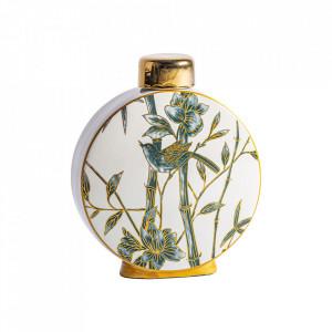 Recipient cu capac multicolor din ceramica 28x32 cm Hamza Vical Home