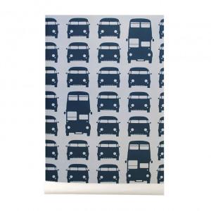 Rola tapet 53x1000 cm Rush Hour albastru Ferm Living