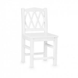 Scaun alb din MDF si lemn Harlequin Cam Cam