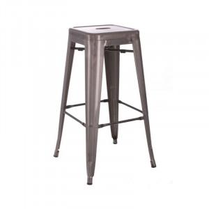 Scaun bar din metal argintiu 61,2 cm Dallas Industrial Ixia