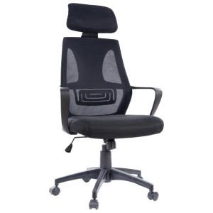 Scaun birou ajustabil negru din textil si metal Q-935 Signal Meble