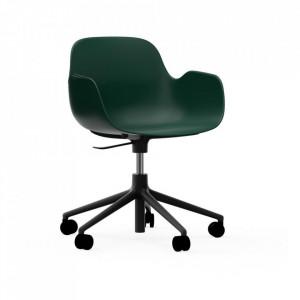Scaun birou ajustabil rotativ verde/negru din polipropilena Form 5W Normann Copenhagen