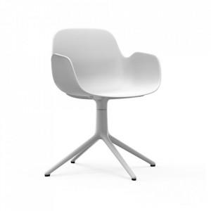 Scaun birou rotativ alb din polipropilena Form 4L Normann Copenhagen