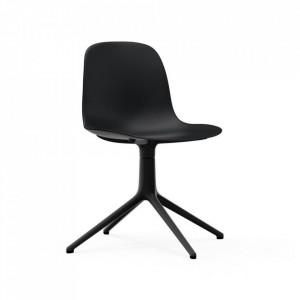Scaun birou rotativ negru din polipropilena Form Normann Copenhagen