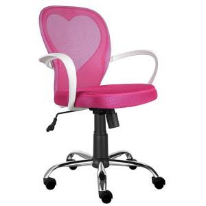 Scaun birou roz ajustabil din textil Daisy Signal Meble