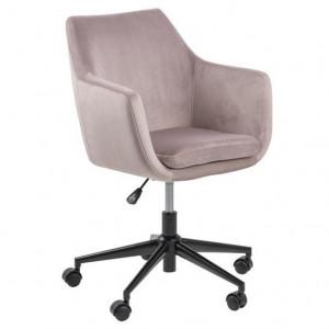 Scaun birou roz/negru din textil si metal Nora Actona Company