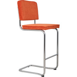 Scaun de bar portocaliu Ridge Kink Rib Orange 19A Zuiver