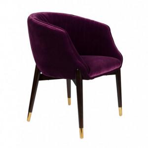 Scaun dining din catifea mov Dolly Purple FR Dutchbone