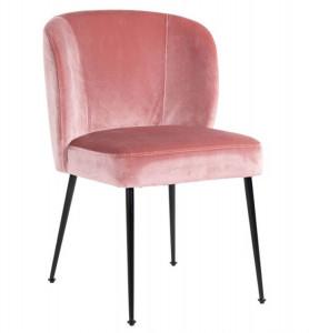 Scaun dining roz/negru din poliester si inox Fallon Richmond Interiors