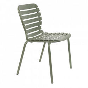 Scaun dining verde din aluminiu pentru exterior Vondel Zuiver