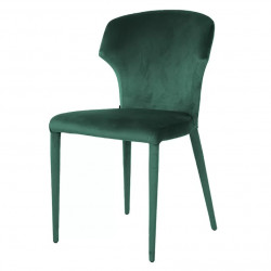 Scaun dining verde din catifea si metal Piper Richmond Interiors