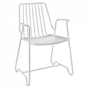 Scaun lounge alb din aluminiu Fish Serax