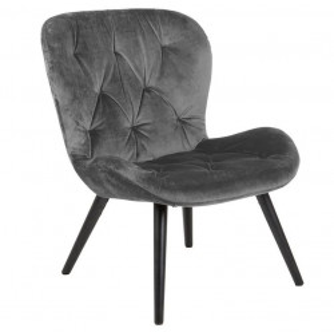 Scaun lounge gri/negru din poliester si lemn Batilda Grey Actona Company