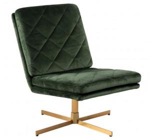 Scaun lounge maro alama/verde din poliester si metal Carrera Dark Green Actona Company
