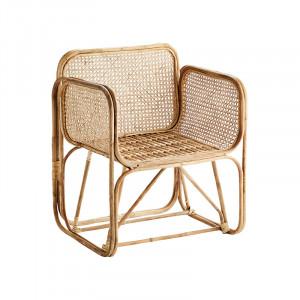 Scaun lounge maro din bambus si ratan Tristram Madam Stoltz