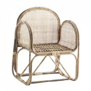 Scaun lounge maro din bambus Travina Madam Stoltz