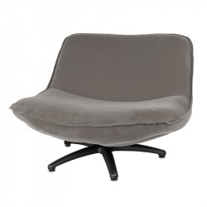 Scaun lounge maro din poliester si lemn Forli Seven LifeStyle Home Collection