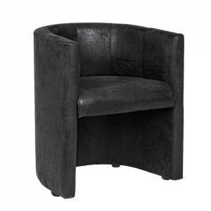 Scaun lounge negru din poliester si lemn Corfu Bizzotto