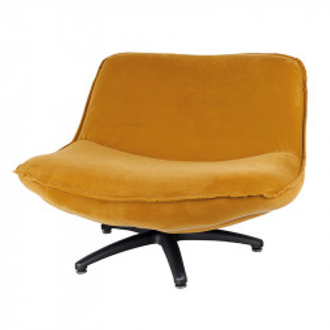 Scaun lounge ocru din poliester si lemn Forli Seven LifeStyle Home Collection
