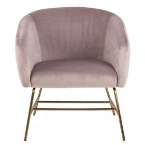 Scaun lounge roz prafuit/maro alama din textil si metal Ramsey Actona Company
