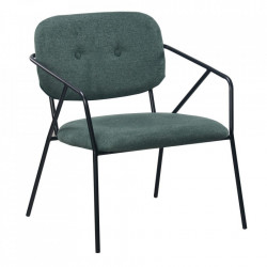 Scaun lounge verde din poliester si metal Egina Ixia