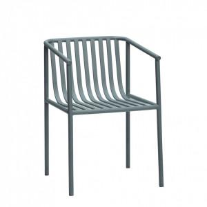 Scaun pentru exterior gri din metal Garden Hubsch