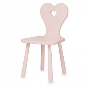 Scaun roz din MDF si lemn pentru copii Heart Blossom Pink Cam Cam