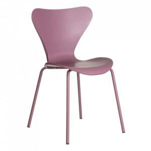 Scaun roz din plastic si metal Christine Ixia