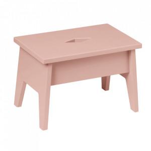 Scaunel roz prafuit din lemn Step Dusty Rose Cam Cam