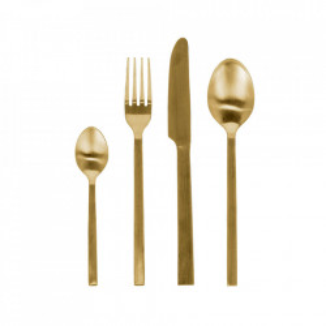 Set 16 tacamuri aurii din inox Lite Kave Home