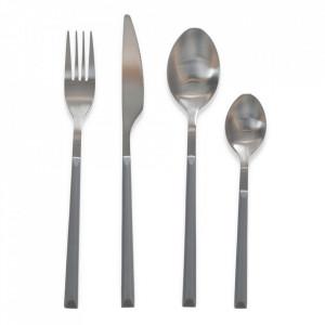Set 16 tacamuri gri/argintii din inox Nona Opjet Paris