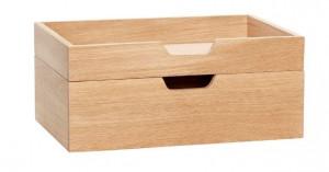 Set 2 cutii maro din lemn Anthony Hubsch