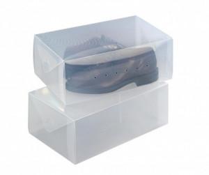 Set 2 cutii pentru depozitarea pantofilor Wenko
